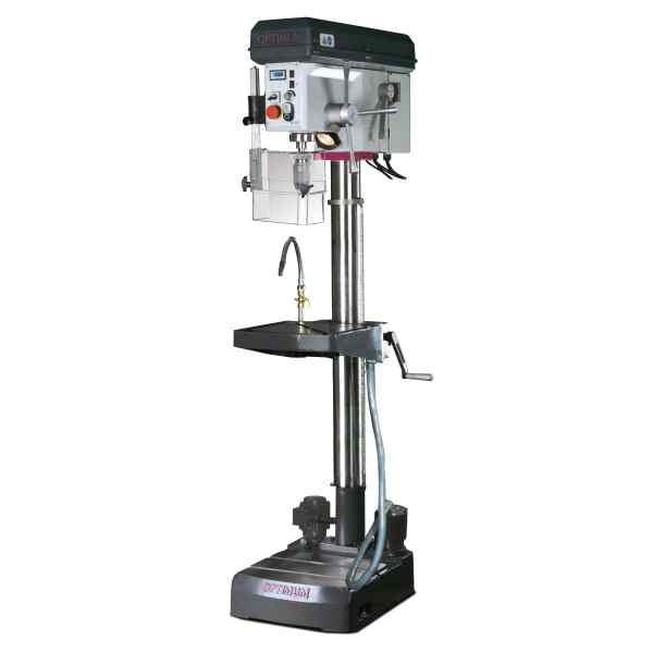 Optimum Stufenlose Säulenbohrmaschine mit Bohrmaschinenschraubstock OPTIdrill B 28HV Aktions-Set
