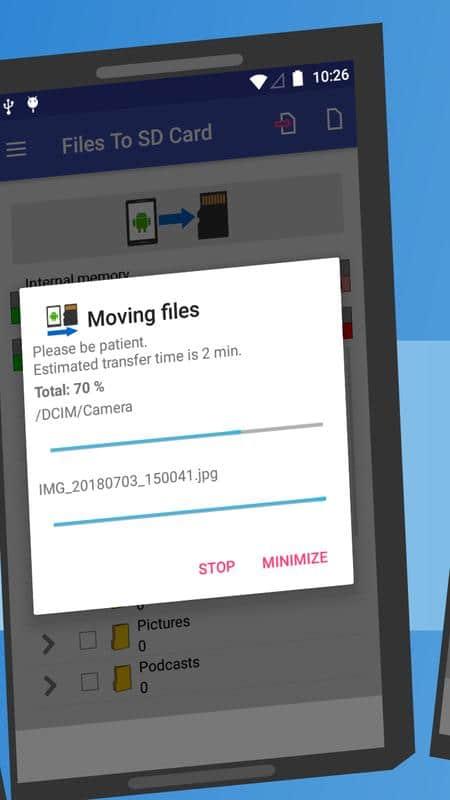 تحميل تطبيق Files To Sd Card لنقل الملفات من الهاتف لذاكرة