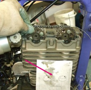 Removing and replacing a cylinder head on a Yamaha TTR250