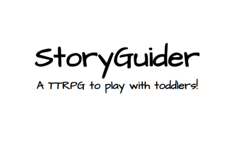 Logo for StoryGuider: A TTRPG to play with toddlers!