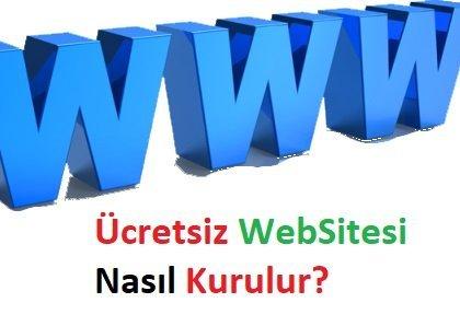 Ücretsiz Web Sitesi Nasıl Kurulur?