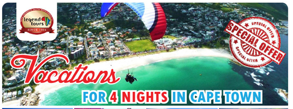 4 Nights in Cape Town with Legend Tours