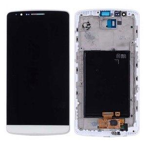 Onderdelen G3 LCD / Scherm met frame voor LG G3 – Wit
