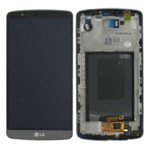 Onderdelen G3 LCD / Scherm met frame voor LG G3 – Zwart