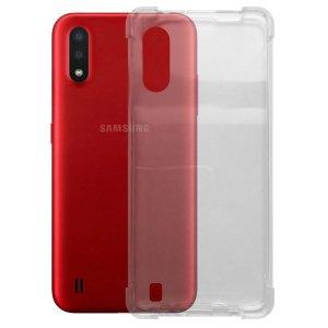 SALE Samsung – Galaxy A01 – Schok bestendig – Siliconen hoesje – Transparant