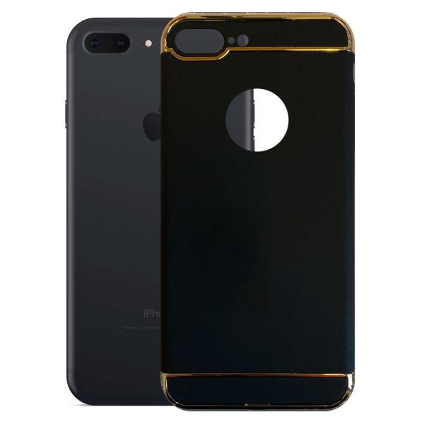 Apple hoesjes Fit Fashion – Hardcase Hoesje –  Geschikt voor iPhone 7 Plus – Zwart