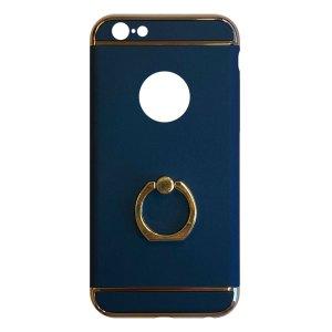 Apple hoesjes Fit Fashion – Hardcase Hoesje –  Met ring – Geschikt voor iPhone 6 Plus/6S Plus – Blauw