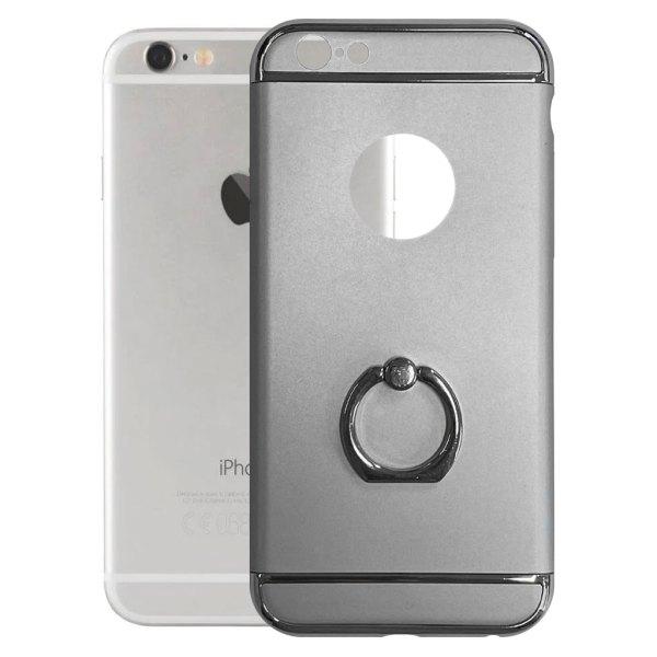 Apple hoesjes Fit Fashion – Hardcase Hoesje –  Met ring – Geschikt voor iPhone 6 Plus/6S Plus – Zilver