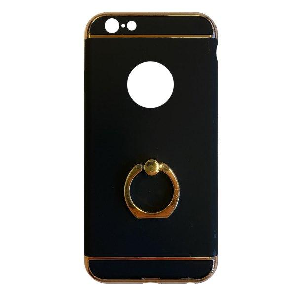 Apple hoesjes Fit Fashion – Hardcase Hoesje –  Met ring – Geschikt voor iPhone 6 Plus/6S Plus – Zwart