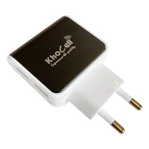 Adapters Khocell – Oplader – met 2 USB aansluitingen – 2.4A – Zwart