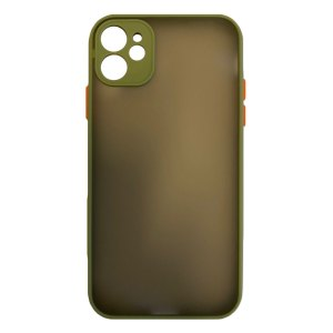 Apple hoesjes My Choice – Siliconen/Hardcase hoesje voor Apple iPhone 11 – Army