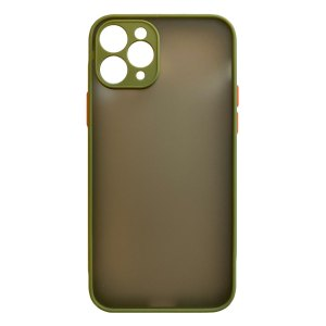 Apple hoesjes My Choice – Siliconen/Hardcase hoesje voor Apple iPhone 11 Pro Max – Army
