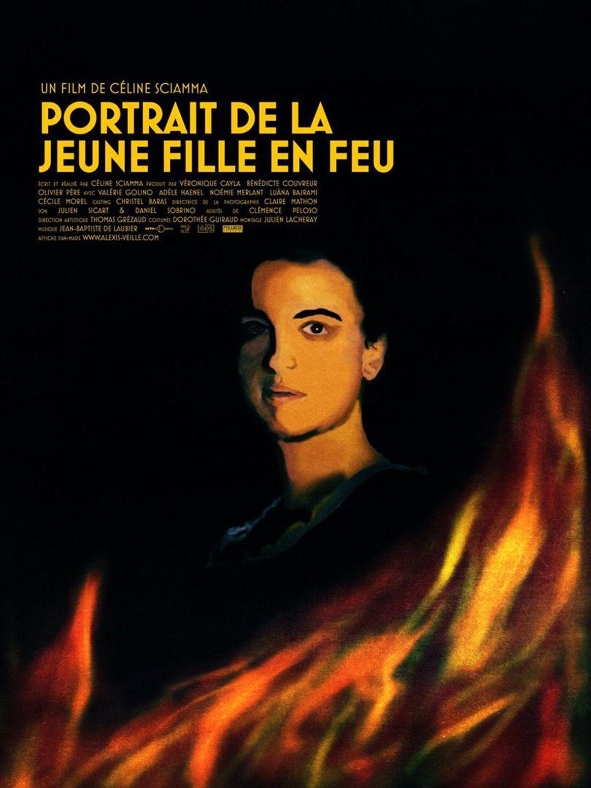Affiche, portrait de la jeune fille en feu