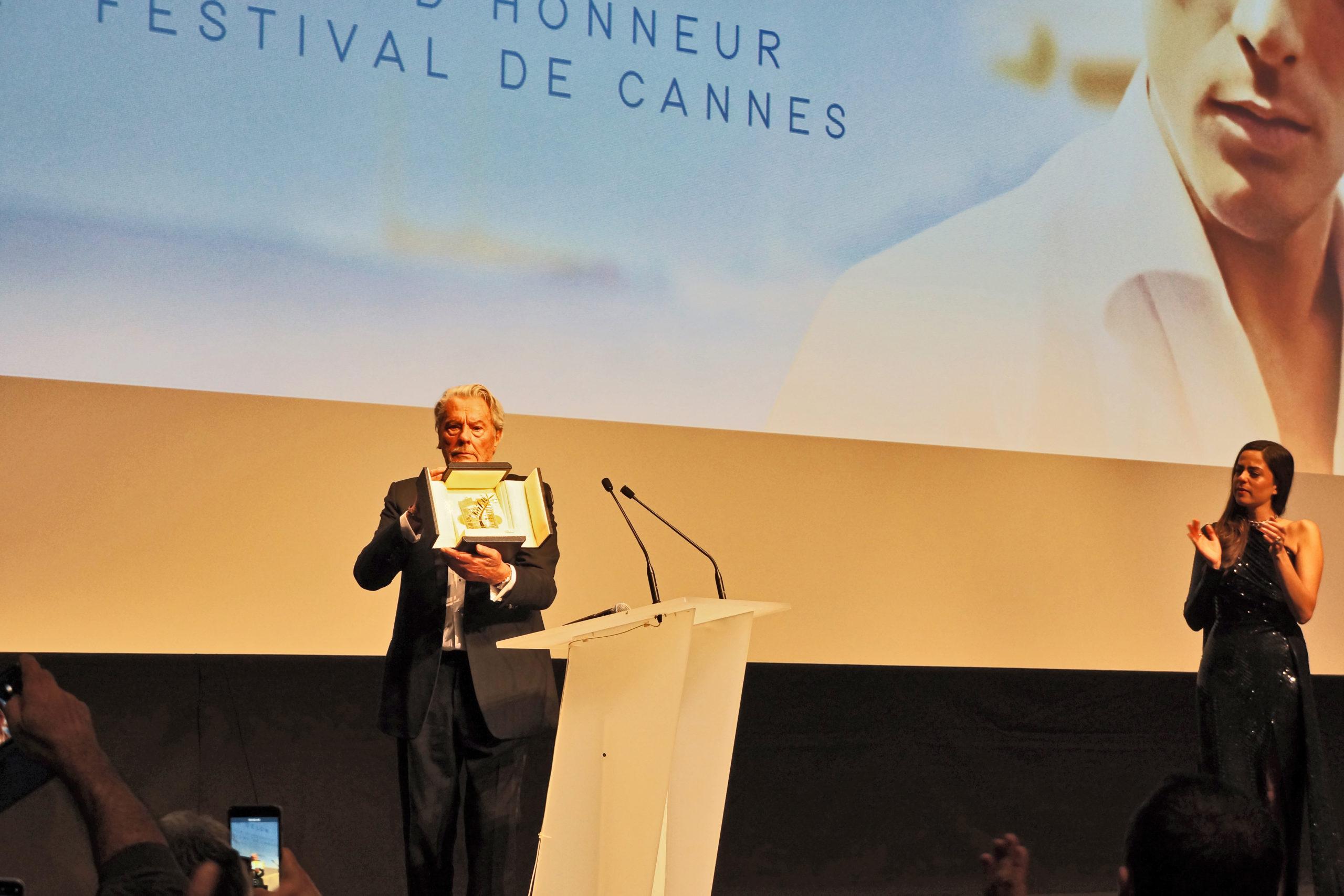 Alain Delon Palme d'or d'honneur cannes 2019