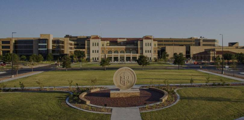 Wide view of the TTUHSC University Center building