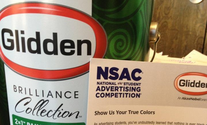 Glidden was kind enough to send us a nice welcoming can of paint samples.