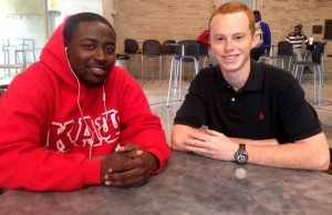 Boakye, left, and Hughes, right. These are the two marketing majors who created the TTU parking app.