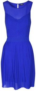 Blue Pleated Prom Dress by Jane Norman via Lyst.com.