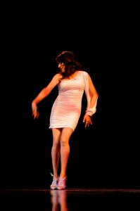 Tristán during her salsa dance routine. Photo credit Arturo Rodriguez