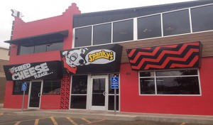 Main entrance to Spanky's, which is across from Jones AT&T Stadium on University Ave.