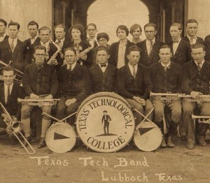Texas Technological marching band.