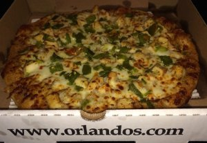 Green Chile Chicken Pizza from Orlando's.