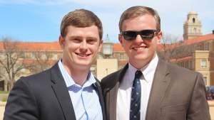 Current SGA President Holton Westbrook and Ben Sharp ran for office together last year. Sarah Self-Walbrick/The Hub@TTU