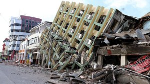 The Ecuador earthquake destroyed many homes and businesses. Cesar Munoz/Public News Agency of Ecuador.