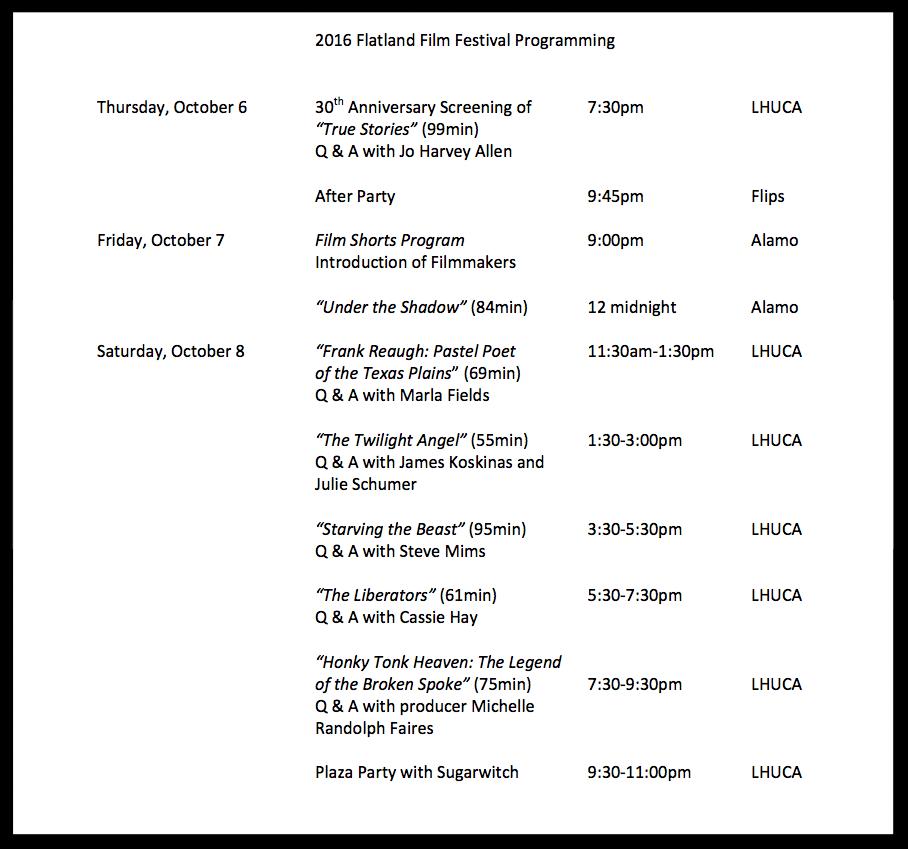 flatland-schedule