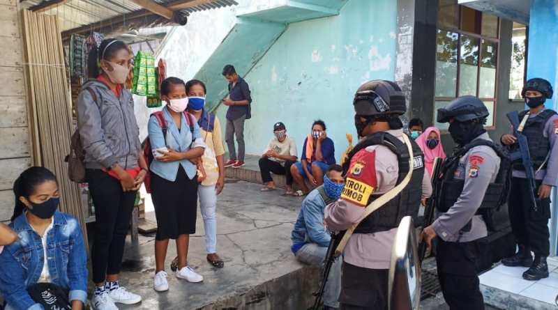 Brimob Maluku sosialisasi New Normal