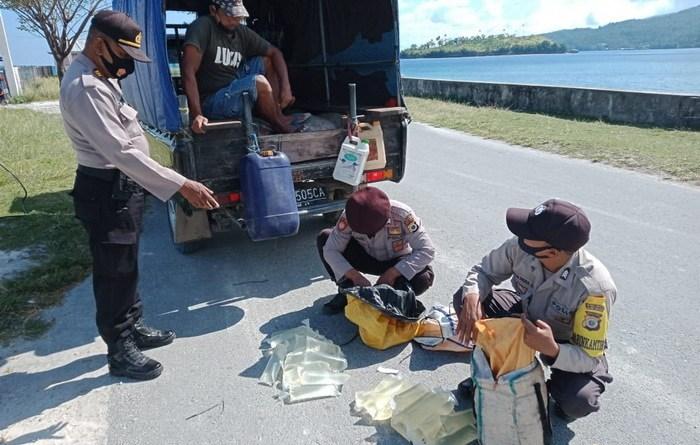 Polsek Kei besar sita 99 kemasan miras sopi di pelabuhan Elat