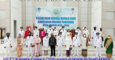 12 Kepala Ohoi yang dilantik Bupati Malra