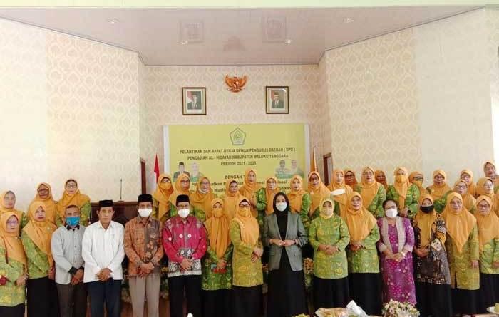 Rapat Ker (Raker ) dan pelantikan pengurus DPD Al – Hidayah, Kabupaten Maluku Tenggara, periode 2021 – 2025, di Langgur, Sabtu ( 29/05/2021 ).