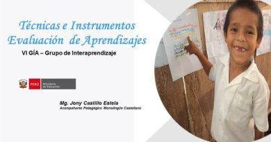 Técnicas e instrumentos, Evaluación de aprendizaje [PDF]