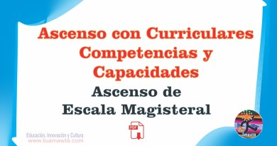 Ascenso de Escala Magisterial: Ascenso con Curriculares