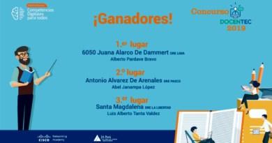 Ganadores del concurso DocenTEC 2019 del Programa Competencias Digitales para Todos