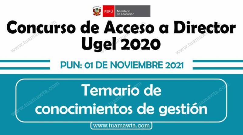 """MINEDU: Temario para el """"Concurso al Cargo de Director de UGEL 2020"""""""
