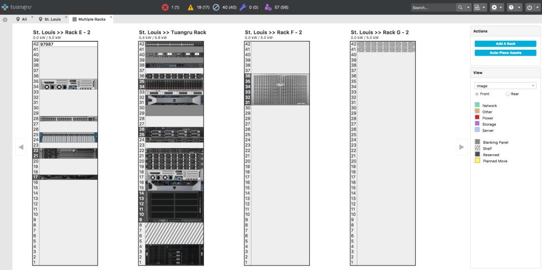 dcim server rack view