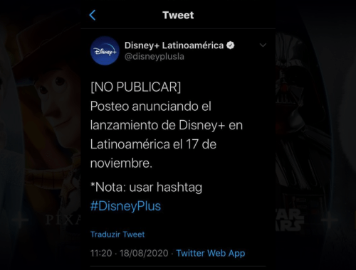 disney plus divulga data de lancamento