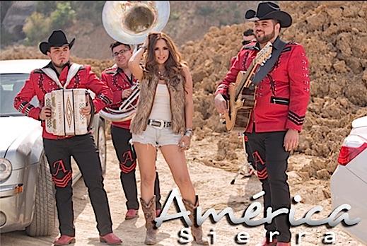 """América Sierra graba en Monterrey el video de su sencillo """"Ponte las pilas"""", primer sencillo del album """"Hecha en Sinaloa"""""""