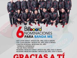 La Banda MS es nominada en 6 categorías de los Latin Billboard 2015