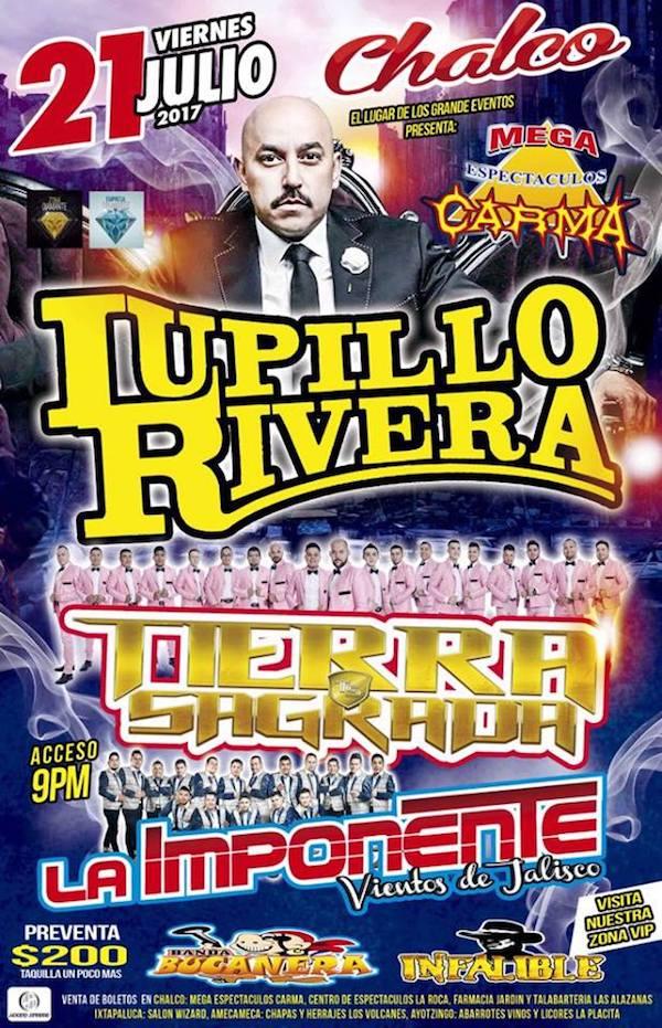 21 de julio Lupillo Rivera en el Carma de Chalco