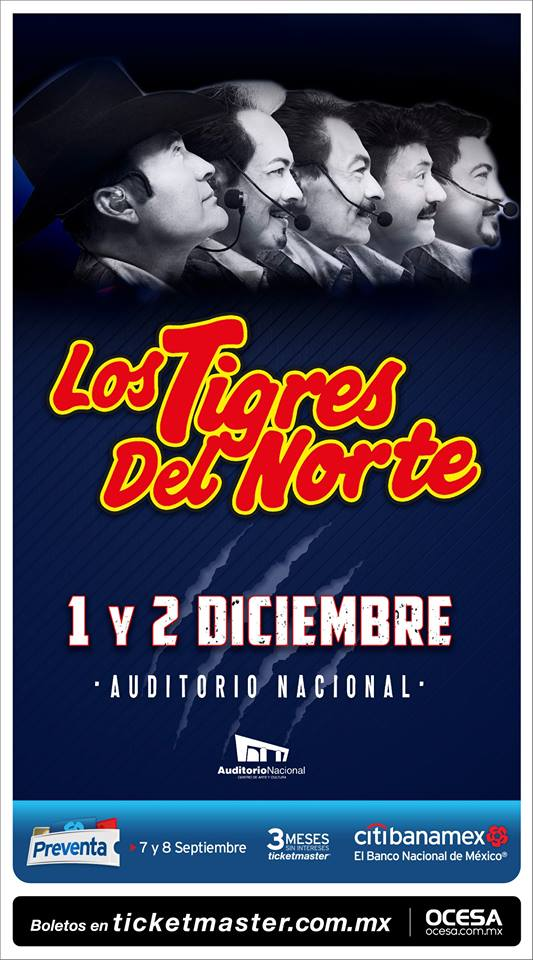 Los Tigres Del Norte en el Auditorio Nacional