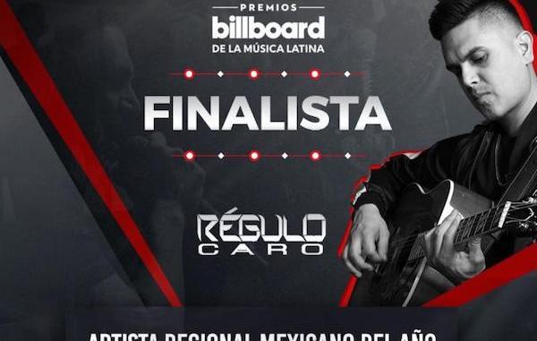 RÉGULO CARO nominado a PREMIOS BILLBOARD