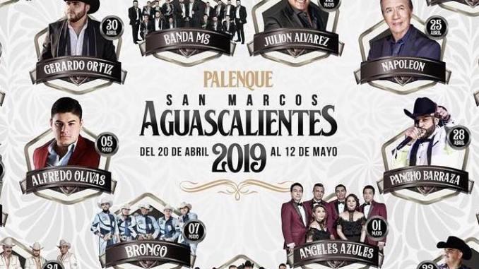 Se anuncia el elenco del Palenque de La Feria de San Marcos 2019.