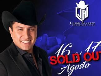 A un mes de su presentación Julión Álvarez agota los boletos para el Auditorio Telmex de Guadalajara.