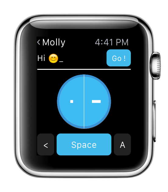 Screenshot Apple Watch - eyeFree Tubaous