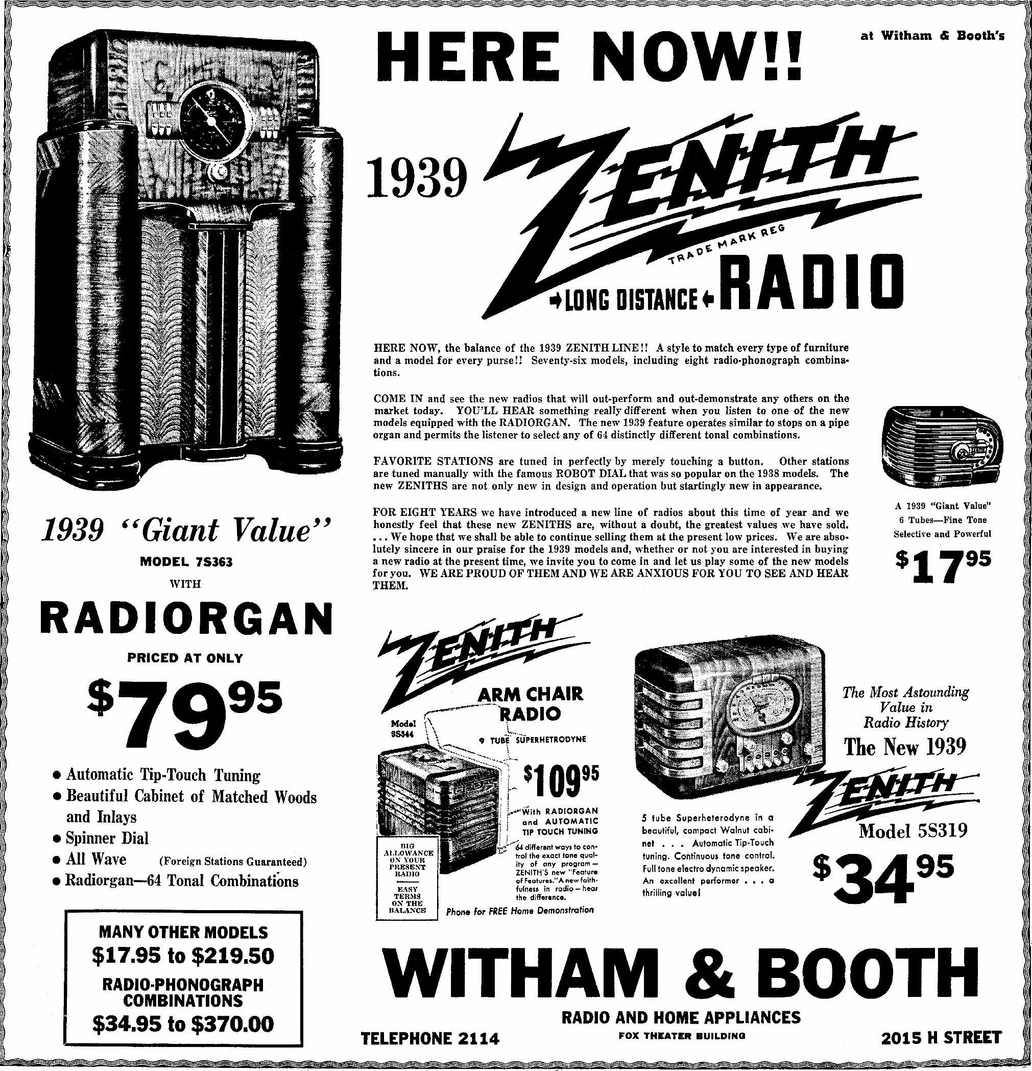 Zenith Model 7 S 363 Console Radio