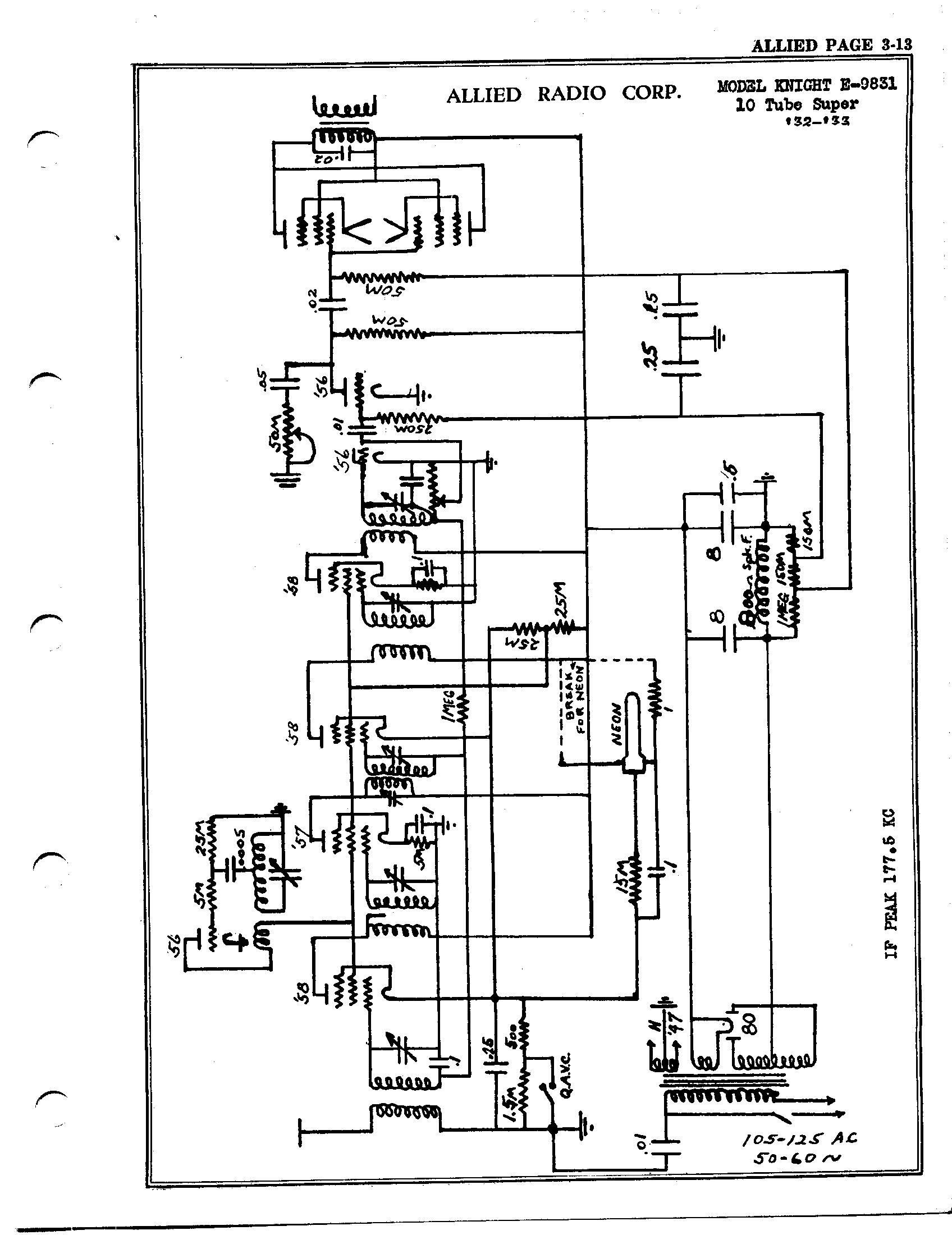 Allied Radio Corp 10 Tube Super