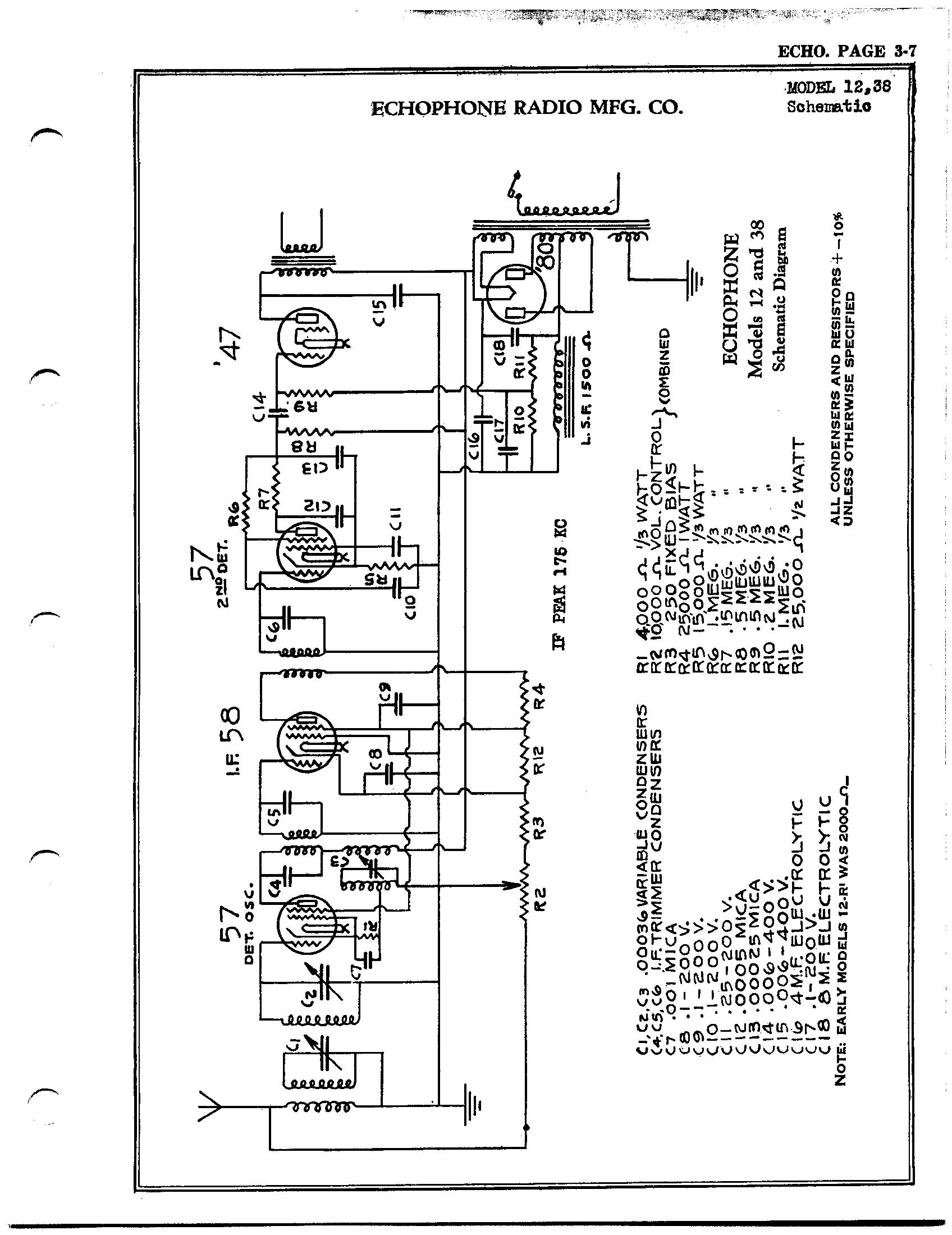 Echophone Radio Corp 12